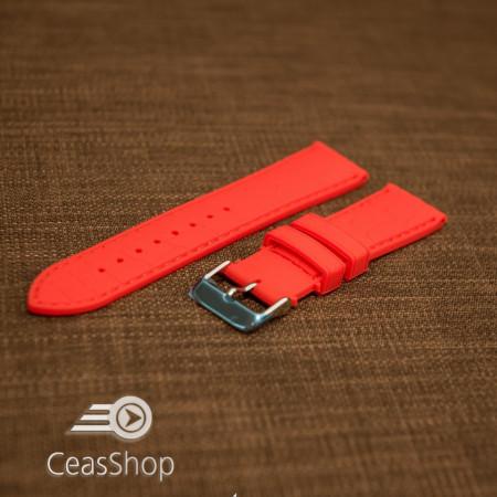 Curea silicon model crocodil roșie 18mm - 45915