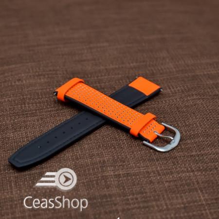 Curea sport doua tonuri- portocaliu cu negru fluorescenta 20mm-33594