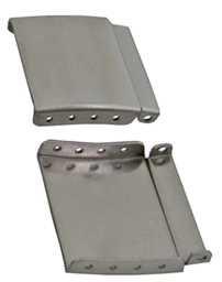 Extensie pentru catarama din trei parti argintie de 20mm
