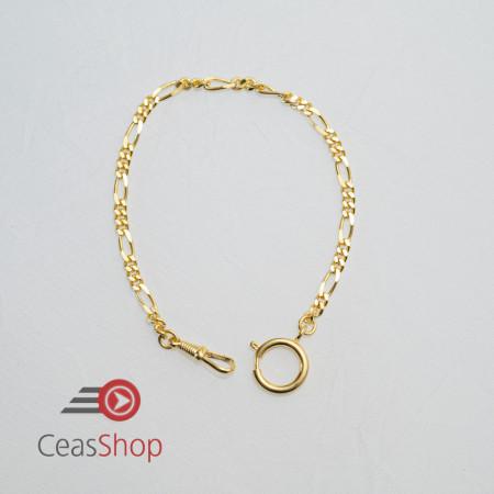 Lanț model figaro, auriu , pentru ceas buzunar 3,5 mm- 3010.2935