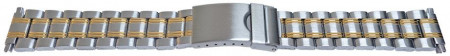 Bratara metalica reglabila bicoloră capete pe arc 16-22mm - 55008