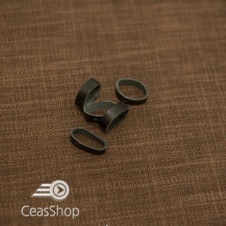 Bride negre din piele pentru curele - 18mm