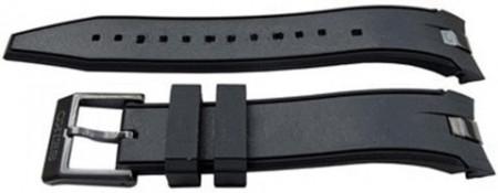 Curea cauciuc originala Seiko Sportura neagră - 20mm