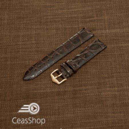 Curea crocodil maro inchis fara cusatura 22mm - 38714
