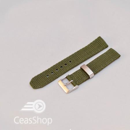Curea din tesatura de nylon verde 18mm - 34090