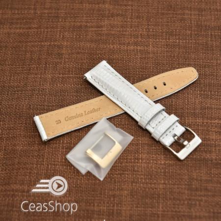 Curea model soparla captusita pe jumătate albă  14mm - 45825