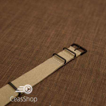 Curea NATO kaki 22mm catarame negre - 36564
