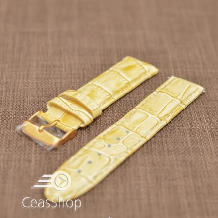 Curea piele captusita bej 12mm - 19631