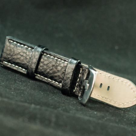 Curea piele ceas neagra 18 mm - 36176
