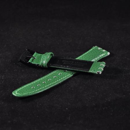 Curea piele tip Swatch 17 mm verde - 31012