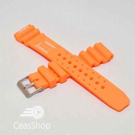 Curea poliuretan portocalie 20mm(22mm) - 40184