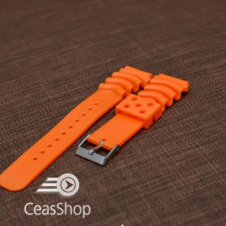 Curea poliuretan portocalie 20mm(26mm) - 39932