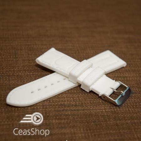 Curea silicon model crocodil albă 20mm - 45920