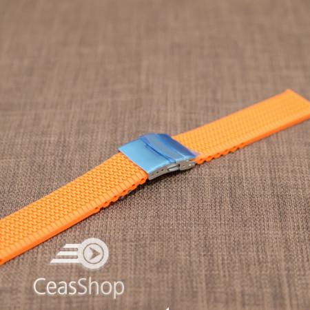Curea silicon portocalie 22mm - 33573