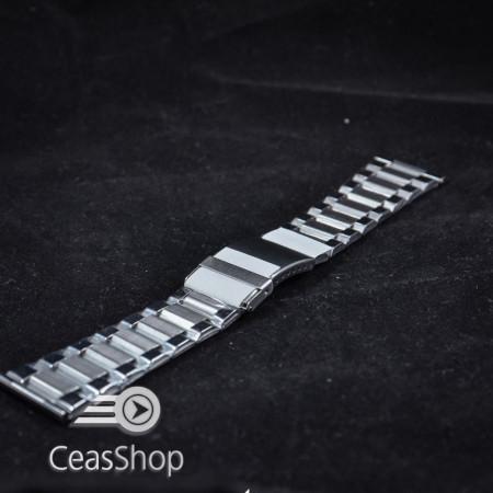 Bratara metalica argintie 28mm - 38947