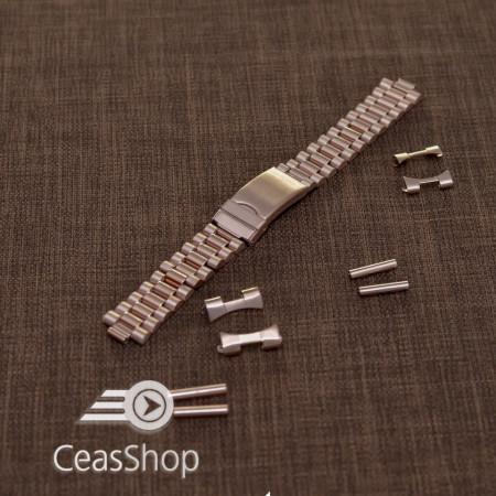 Bratara metalica reglabila aur roz capete curbate 18-20mm - 40013
