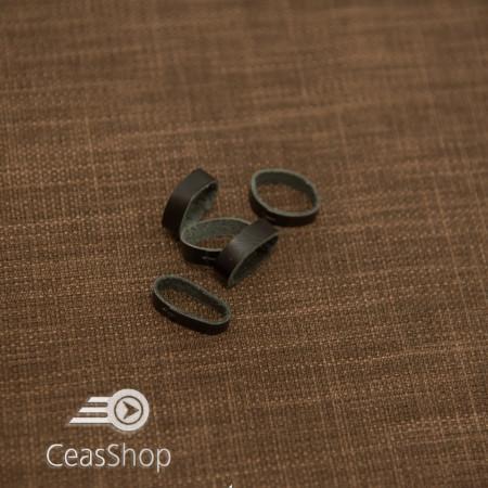 Bride negre din piele pentru curele - 12mm