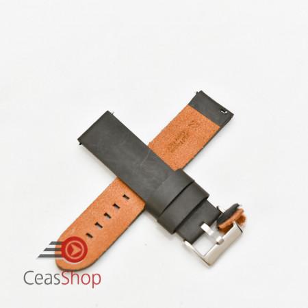 Curea piele neagră vintage QR 26mm - 3830126