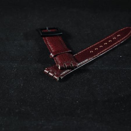 Curea piele tip Swatch 17 mm maro - 31009