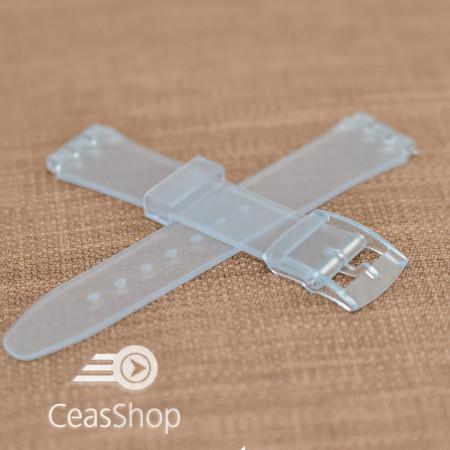 Curea tip Swatch 14 mm transparenta