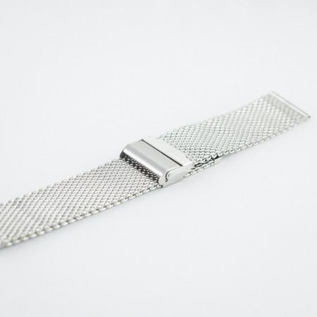 Bratara milaneza argintie 18mm -38185