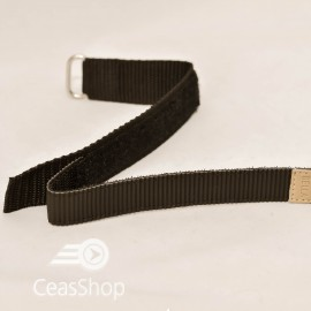 Curea din tesatura de nylon neagra sport cu arici 18mm - 20448