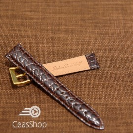 Curea model crocodil captusita maro finisaj lucios 20mm - 46359