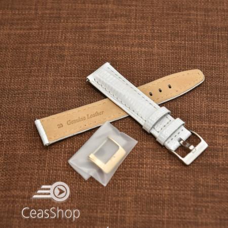 Curea model soparla captusita pe jumătate albă  18mm - 45826