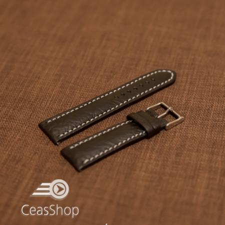 Curea piele MILANO neagra, captusita, cusaturi albe 20mm - 33587