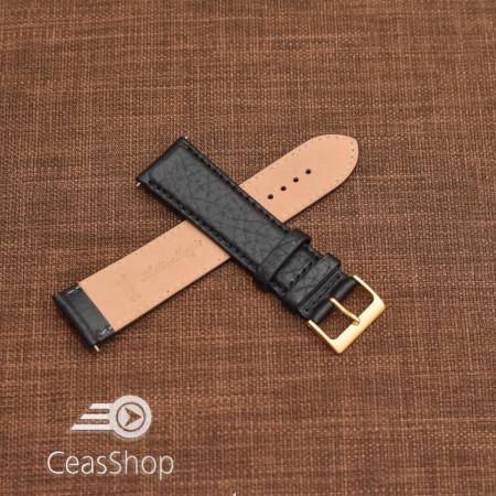 Curea piele VERONA neagra, captusita  22mm -XL- 46330