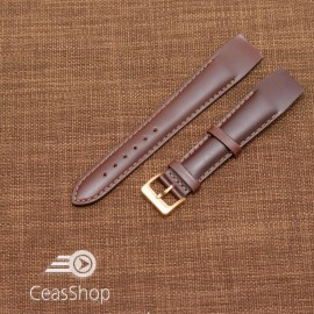 Curea piele vitel maro inchis, open end, 18mm - 36018