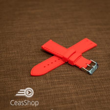Curea silicon model crocodil roșie 20mm - 45916