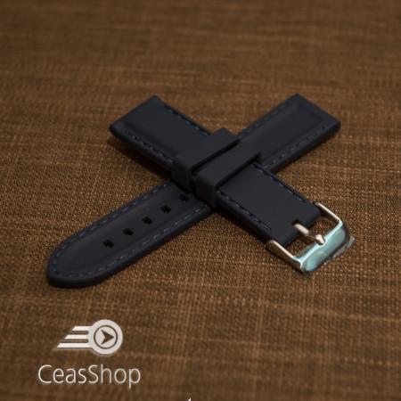 Curea silicon navy cusături albastre 20mm - 42322