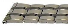 Bratara metalica argintie cu negru 22mm - 38891