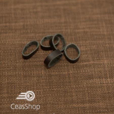 Bride negre din piele pentru curele - 14mm