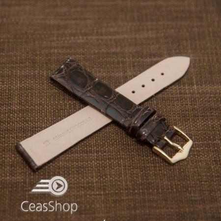 Curea crocodil maro inchis fara cusatura 20mm - 38377
