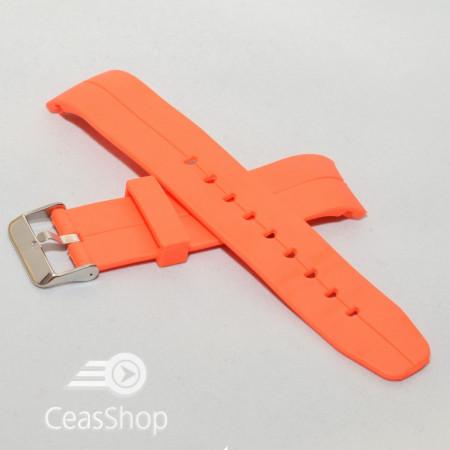 Curea din poliuretan curbata portocalie 20mm - 35996