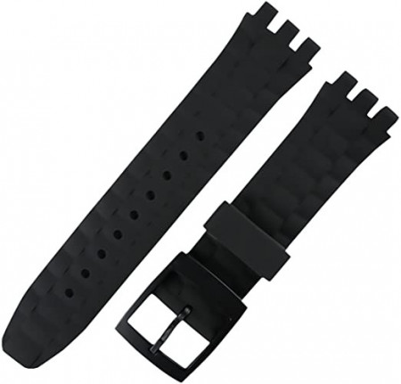 Curea din silicon tip SWATCH 21mm neagra