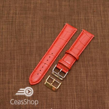 Curea model crocodil captusita roșie  22m XL - 45758