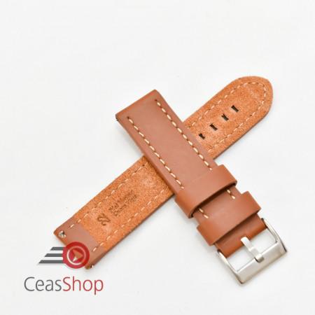 Curea piele maro castaniu XL QR 18mm - 384EL0818