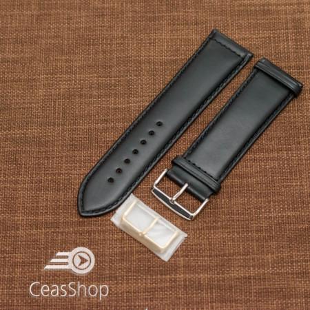 Curea piele vitel neagră 22mm - 48667