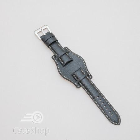 Curea piele vitel tip Pilot neagra de 22mm - 3860122