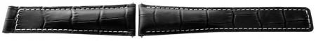 Curea tip Tag Heuer neagra cusatură albă 20mm - 52527