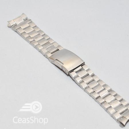 Bratara capete curbate argintie 22mm - 15284
