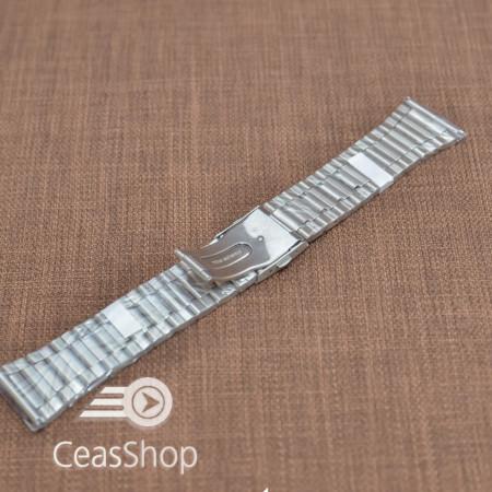 Bratara metalica argintie 28mm - 38953