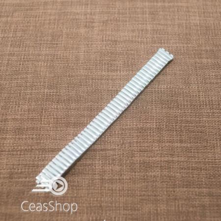 Bratara tip SWATCH extensibila argintie dama 12mm