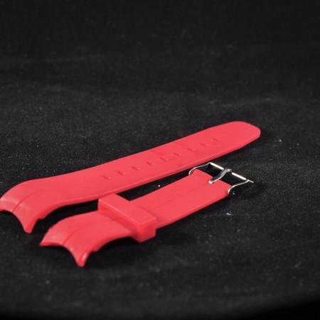 Curea din poliuretan curbata rosie 22mm - 35995