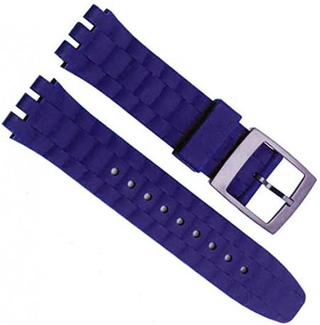 Curea din silicon tip SWATCH 21mm albastra