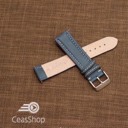 Curea piele albastra cu cusatura alba 26mm - 46399