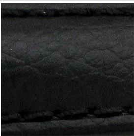 Curea piele buffalo captusita pe jumatate neagra 20 mm - 34852